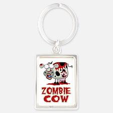 Zombie-Cow Portrait Keychain