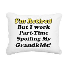 Im Retired Spiling Rectangular Canvas Pillow