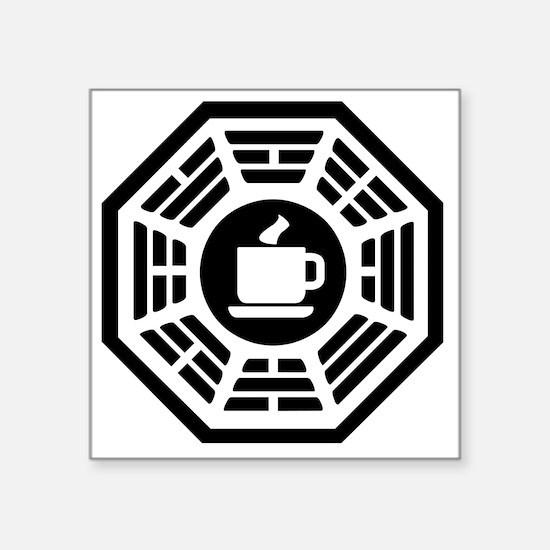 """Dharma Coffee 3 Square Sticker 3"""" x 3"""""""