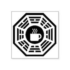 """Dharma Coffee 1 Square Sticker 3"""" x 3"""""""