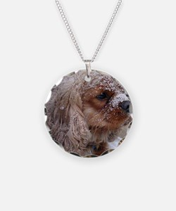 Snow Cavalier King Charles S Necklace