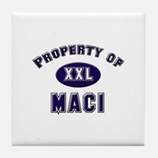 Property of maci Tile Coaster