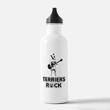 bullterriersrock_blk Water Bottle