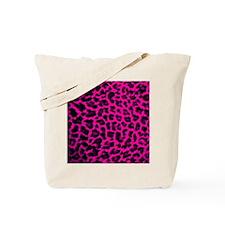 Hot Pink Leopard Tote Bag
