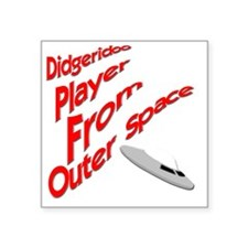 """Didgeridoo Player from oute Square Sticker 3"""" x 3"""""""