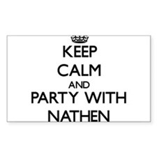 Keep Calm and Party with Nathen Decal
