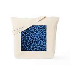 Dark Blue Leoaprd Tote Bag