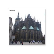 """Prague Cathedral Square Sticker 3"""" x 3"""""""