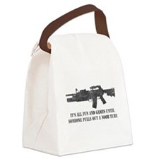 ITSALLFUNNOOBTUBE-WHITE copy Canvas Lunch Bag