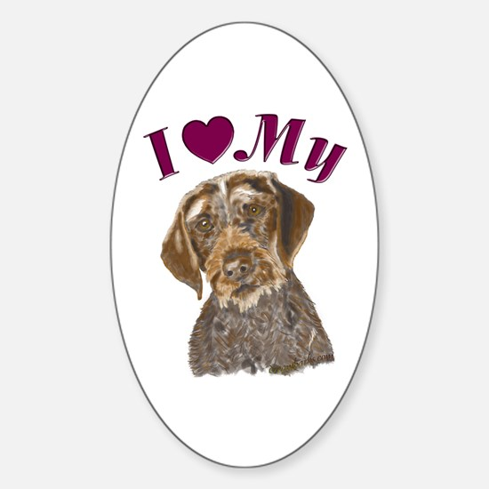 Heart Pointer Oval Decal