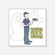 "ghosts-with-investigatorDAR Square Sticker 3"" x 3"""