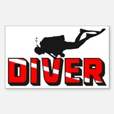 diver.1 Sticker (Rectangle)