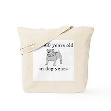 80 birthday dog years bulldog Tote Bag