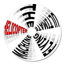 Heli Ultimate_10x10in_200dpi_11_1 Round Car Magnet