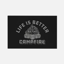 Life Is Better By The Campfire Rectangle Magnet