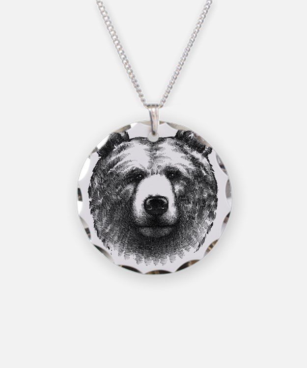 Charcoal Bear Necklace