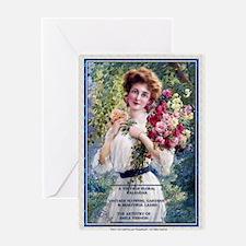1 A VINT FLOWERS GARDENS BEAUTIFUL L Greeting Card