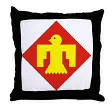 45th Infantry Division Throw Pillow