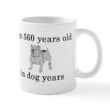 80 birthday dog years bulldog 2 Mugs