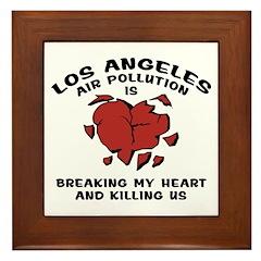 Los Angeles Air Pollution Framed Tile