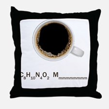 Coffee-Lt-C8H10 Throw Pillow