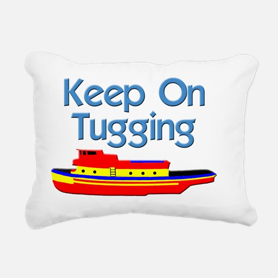 tugboat tug boat tugs Rectangular Canvas Pillow