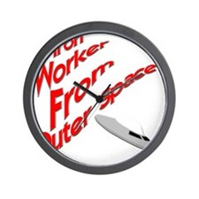 funny ironworker iron worker Wall Clock