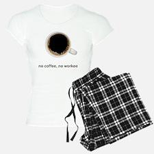 Coffee-Lt-NoCoffeeNoWorkee Pajamas