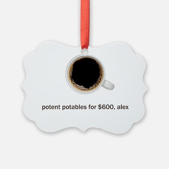 Coffee-Lt-PotentPotables Ornament