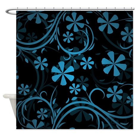 Blue Black Paisley Shower Curtain By Admin Cp16995450