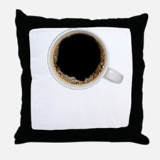 Coffee-Dk-C8H10 Throw Pillow