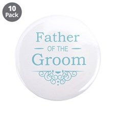 """Father of the Groom blue 3.5"""" Button (10 pack)"""