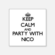 Keep Calm and Party with Nico Sticker