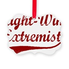 Right-Wing-Extremist-(cursive)-wh Ornament