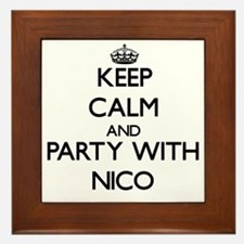 Keep Calm and Party with Nico Framed Tile