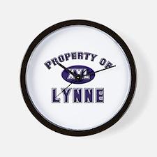 Property of lynne Wall Clock