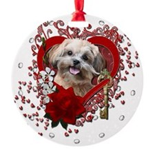 Valentine_Red_Rose_ShihPoo_Maggie Ornament