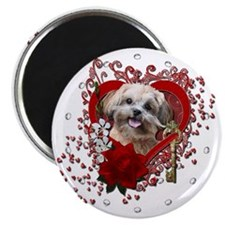 Valentine_Red_Rose_ShihPoo_Maggie Magnet