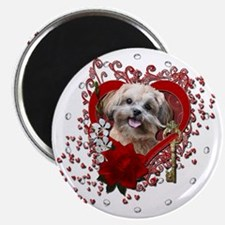 Valentine_Red_Rose_ShihPoo_Maggie Magnet