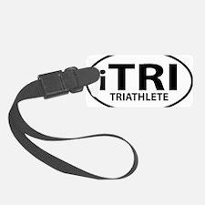iTRI TRIATHLETE oval Luggage Tag