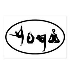YOGA poses oval Postcards (Package of 8)