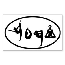 YOGA poses oval Stickers