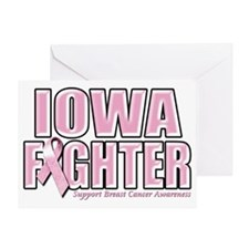 Iowa Breast Cancer Fighter Greeting Card
