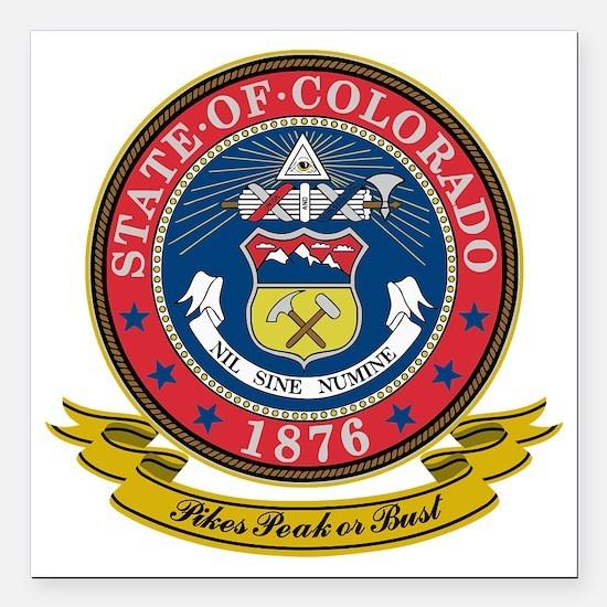 "Colorado Seal Square Car Magnet 3"" x 3"""