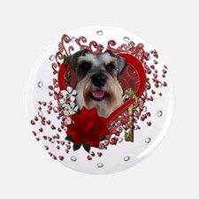 "Valentine_Red_Rose_Schnauzer 3.5"" Button"