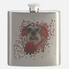 Valentine_Red_Rose_Schnauzer Flask