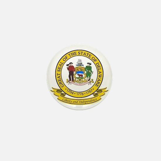 Delaware Seal Mini Button