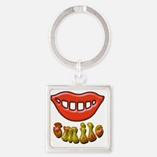 smile Square Keychain