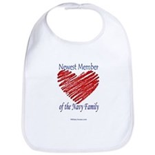 Newest Member... Navy Family Bib