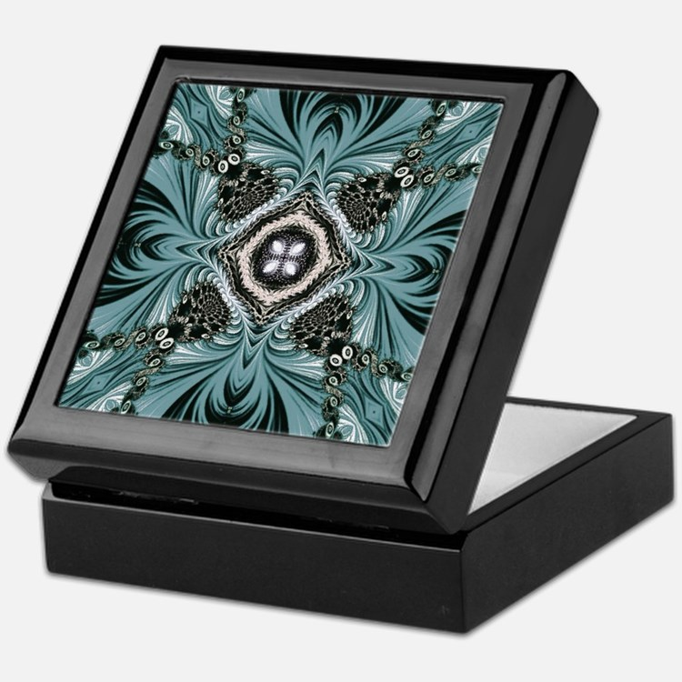 kaleido art fractal vintage Keepsake Box